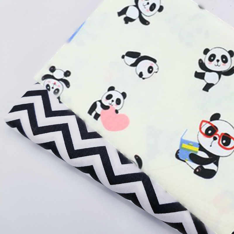 Cute Panda Pattern Printing Cotton Fabric 100 Cotton Twill Fabric DIY Sewing Quilting Cloth For Baby&Child Optional Size