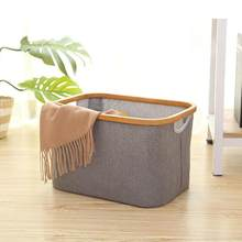 Foldable Storage Baskets Fabric Dirty Clothes Sundries Baby Toy Desktop Organize Baskets Household Folding Laundry Basket(China)