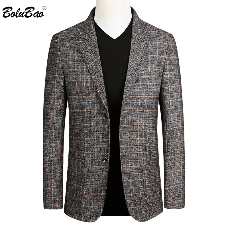 BOLUBAO Fashion Brand Men Casual Blazers Autumn New Men's Slim Fit Trend Suit High Quality Business Wild Blazer Male