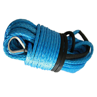 Extension For ATV Winch Blue 0,4 * 92 Feet, Synthetic Winch Cable, Synthetic Rope