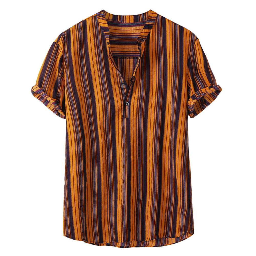 Fashion-Striped-Men-Shirt-Stand-Neck-Button-Streetwear-Casual-Brand-Shirts-Men-Hip-hop-Short-Sleeve (1)