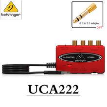 Внешняя звуковая карта behringer uca222/202 портативная звукозаписывающая