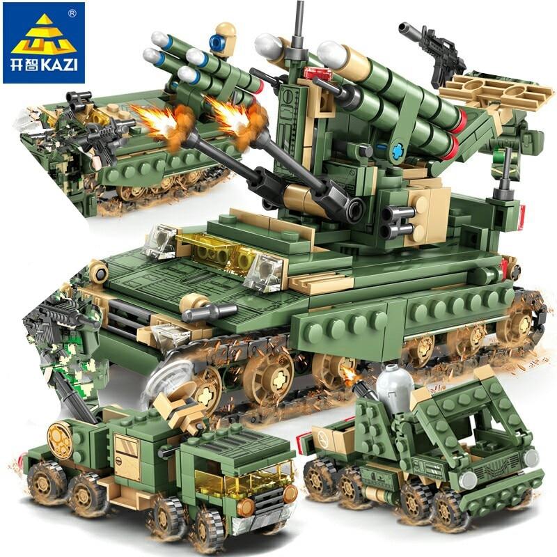 649 pièces militaire champ armée blindé voiture réservoir têtes blocs de construction ensembles LegoINGs Figures briques jouets pour enfants cadeaux de noël