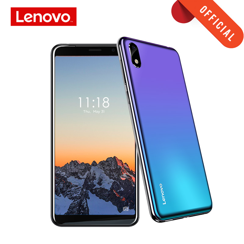 Lenovo Smartphone A5S 5.45 Inch MTK6761 Quad Core Mobile Phone 2GB 16GB Android 9.0 Face Unlock 4G Phone 3000mAh-in Cellphones from Cellphones & Telecommunications