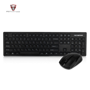 Image 2 - Motospeed G4000 2.4G Wireless Keyboard and Mouse Combo Ergonomics USB 2.0 1000DPI Mouse 104 Keys Board