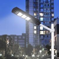 1pc Outdoor Lighting Street Light 50W 100W 150W Led Road Lamp Streetlight Waterproof PIR Motion Sensor Led Solar Lamp IP65