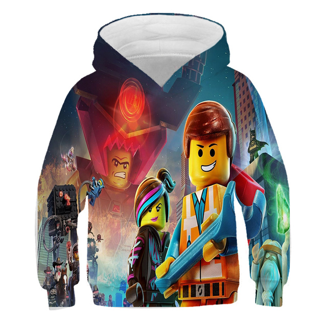 New Boys Hoodie Legoes T-shirts Baby Ninjago Girls Hooded Long Sleeves chothing Children Spring Autumn Clothes Toddler Outerwear 2