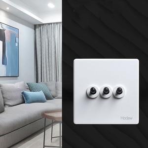Image 5 - رافعة سوداء 3 Gang ريترو 86 نوع تبديل التبديل 2 طريقة واحدة مزدوجة التحكم الجدار ضوء شخصية التبديل 10A22V الأبيض