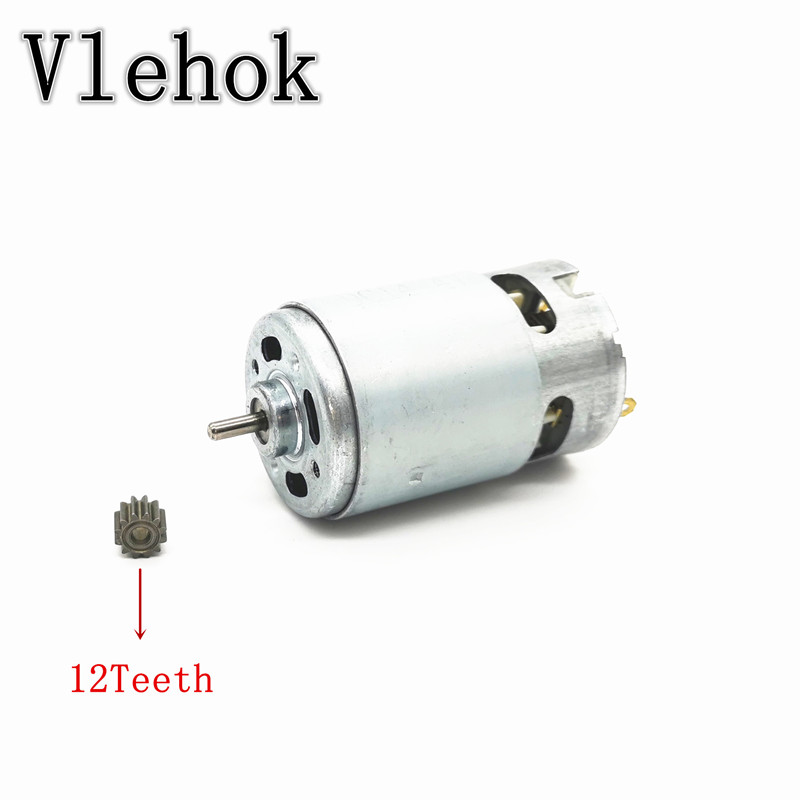 12 teeth RS550 7.2V 9.6V 10.8V 14V 21.6V 24V 25V Motor for CHINA LONGYUN FOGO GEMAISI CAVANI Cordless Drill Driver Screwdriver image