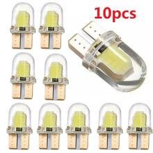 10/1 pces led w5w t10 194 168 w5w cob 8smd lâmpadas led estacionamento lâmpada auto licença de folga cunha sílica brilhante branco