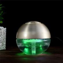 휴대용 USB 충전 공기 청정기 HEPA 필터 먼지 제거 연기 공기 청정기 LED 밤 빛 에센셜 오일 기관총 P49