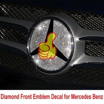 Diamond Front Emblem Logo Decal Decoration for Mercedes Benz Class E C GLA CLA GLC GLA200 GLC260 W205 C200L C180 W213 X117