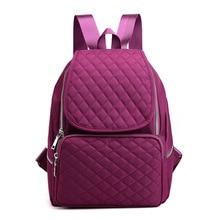 Women School Backpack Fashion square Waterproof nylon large capacity ladies backpack Bolsas Mochila Feminina Bag Female Sac A Do цена