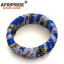 Деревянные браслеты с Африканским принтом для женщин круглые