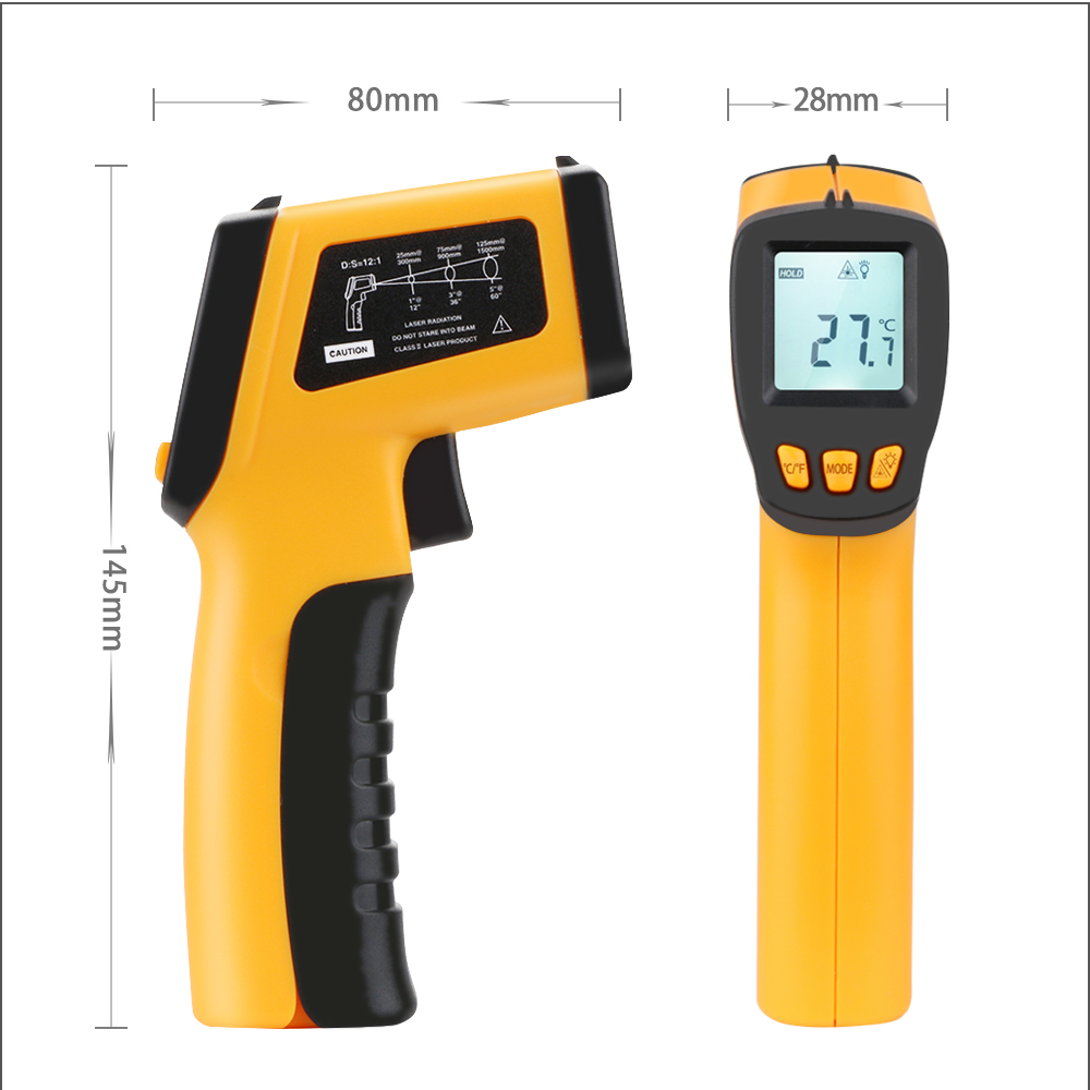Image 5 - RZ Digital Non Contact Infrared Thermometer Mini Laser IR 