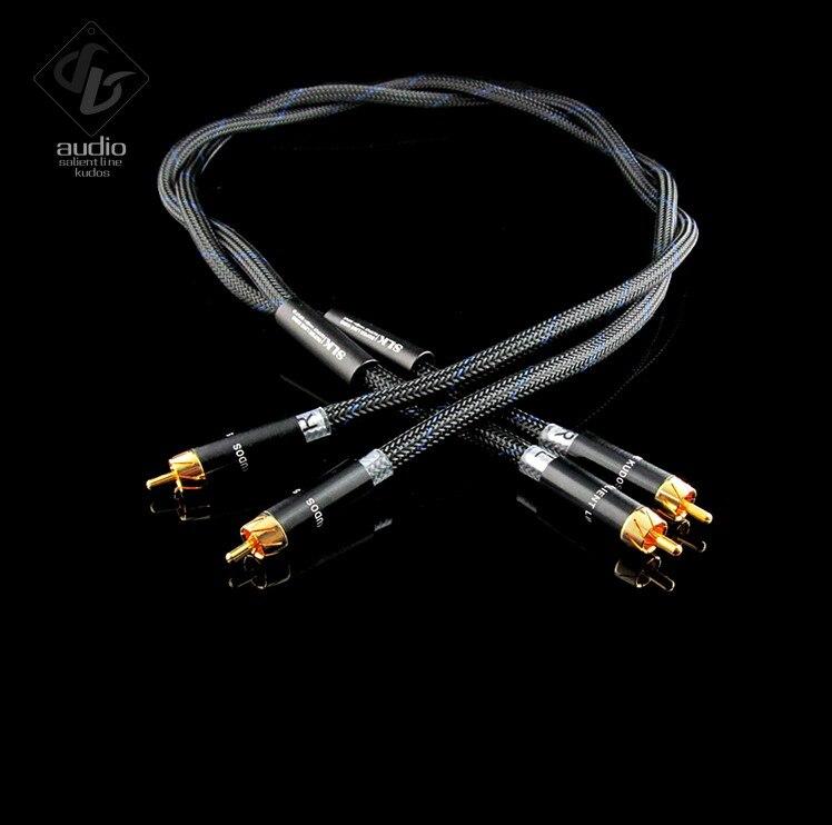Câble de signal audio XLR RCA en cuivre monocristallin SLK OCC 2 pièces