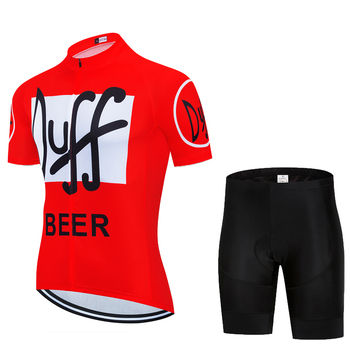2020 New duff cycling jersey bike shorts set Ropa Ciclismo Men MTB Bicycling clothing summer Red short-sleeved cycling clothing tanie i dobre opinie 100 poliester Polyester Lycra Spandex Krótki rękaw Factory direct sales 80 poliester i 20 lycra Żel oddychające pad
