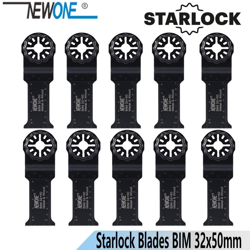 NEWONE 32*50 мм Starlock длинные лезвия пилы, подходят для осциллирующих инструментов для дерева, металла, резки, удаления гвоздей и т. д.
