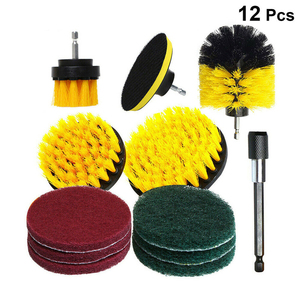 Image 4 - 12 stücke Elektrische Bohrer Reinigung Pinsel Reiniger Combo Tool Kit Power Für Teppich Glas Auto Reifen Nylon Pinsel Wäscher