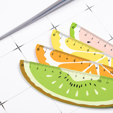 1pcs Cute Cartoon Watermelon Orange Lemon Kiwi Kawaii Plastic Ruler School Students Measurement Straight Stationery Child Rulers