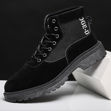 New autumn men's shoes 2019 fashion casual men's high-top shoes work style shoes sandal leather shoes desert boots man(China)