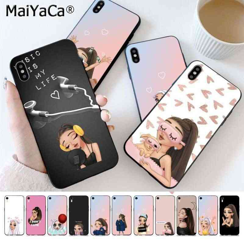 MaiYaCa Ariana Grande Cartoon różowy coque funda nowość Fundas etui na telefon do Apple iphone 11 pro 8 7 66S Plus X XS MAX 5S SE XR