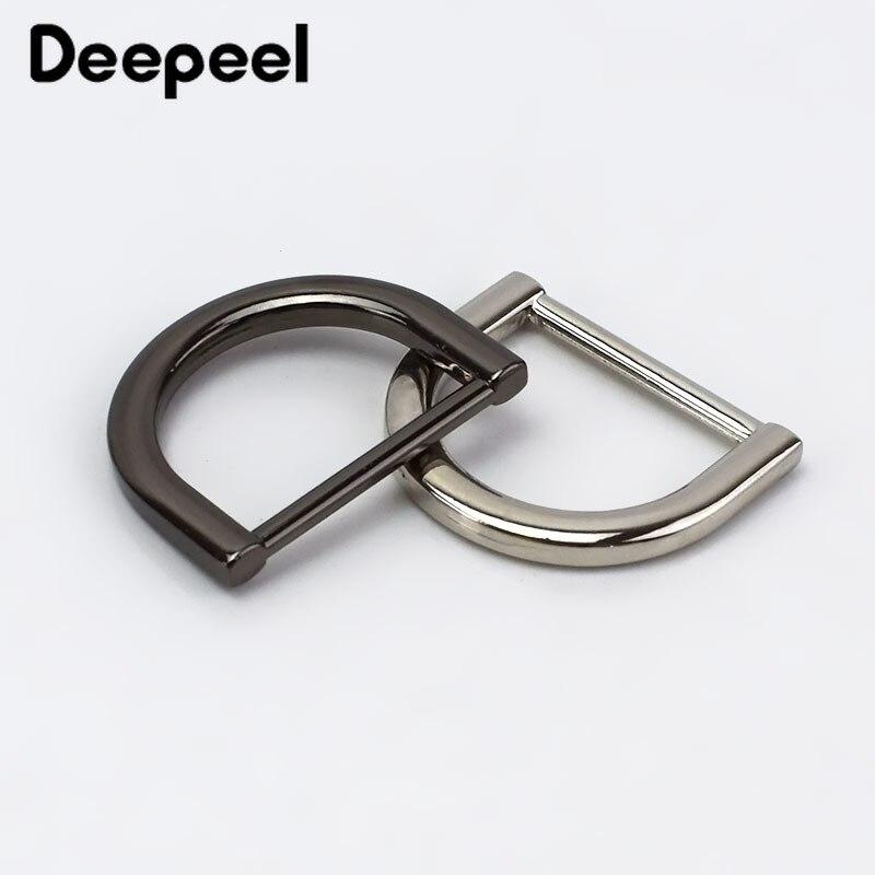 Deepeel 25mm Metal O D Ring Buckle Backpack Strap Hanger Clasp Hook For Dog Collar Webbing DIY Bag Leather Craft