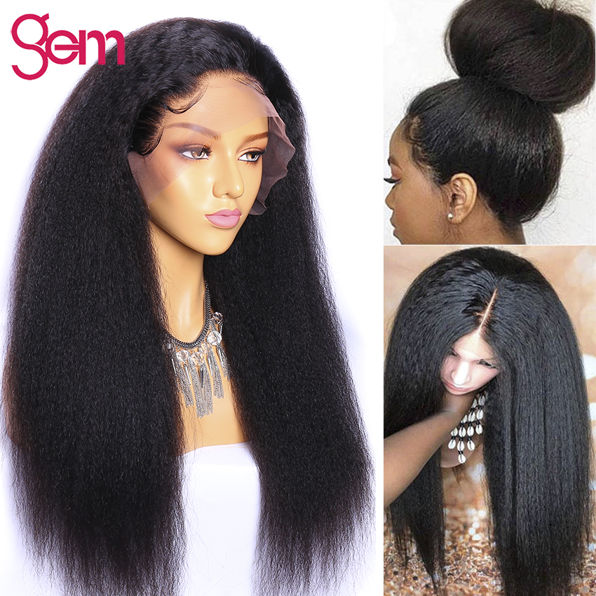 Kinky Straight Wig 13x4 Lace Front Human Hair Wig Pre Plucked With Baby Hair Lace Front Human Hair Wig Remy Lace Front Wig