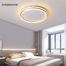 Современный светодиодный потолочный светильник круглый металлический