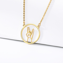 2019 new necklace Love you sign language Network couple Birthday gift BFF stainless steel gold jewelry