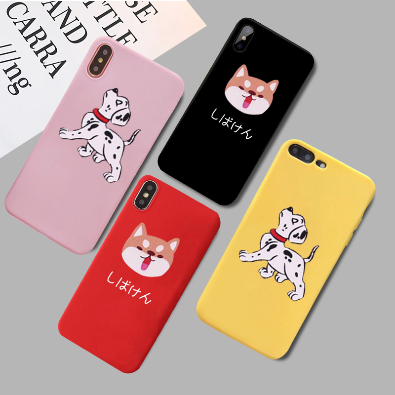 GYKZ Cute Cartoon Corgi Phone Case For iPhone 7 XS MAX X XR 8 6 6s Plus Japan Style Dog Pattern Back Cover Soft Silicone Fundas in Fitted Cases from Cellphones Telecommunications