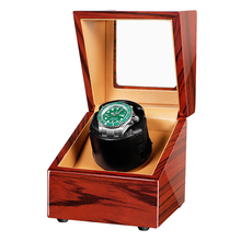 Ebony Wood Automatic Watch Winder Box Accessories Display Mechanical Rotating Leather For Automatic Watches