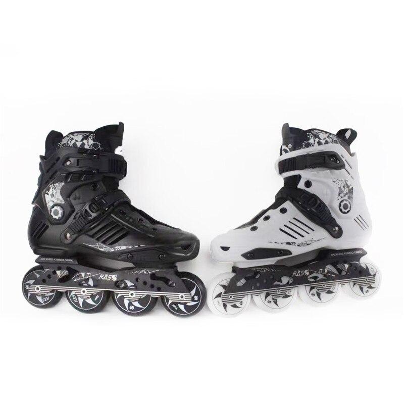 Homens Mulheres Sapatos Deslize Slalom Adulto Patinação Patins Inline 72-76-80mm 4 Rodas Universidade Patines Fsk