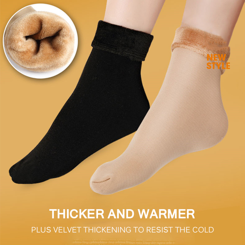 HOT Winter Wamer Women Snow Socks Thicken Thermal Wool Cashmere Snow Socks Seamless Velvet Boots Floor Sleeping Socks for Ladies