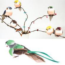 OOTDTY 12 Pcs Artificial Foam Feather Simulation Bird Home G