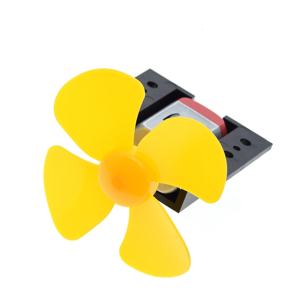 1Set DC Micro 130 Gear motor with fan blade SMAll propeller 3-6V For Arduino DIY experiment +Motor base