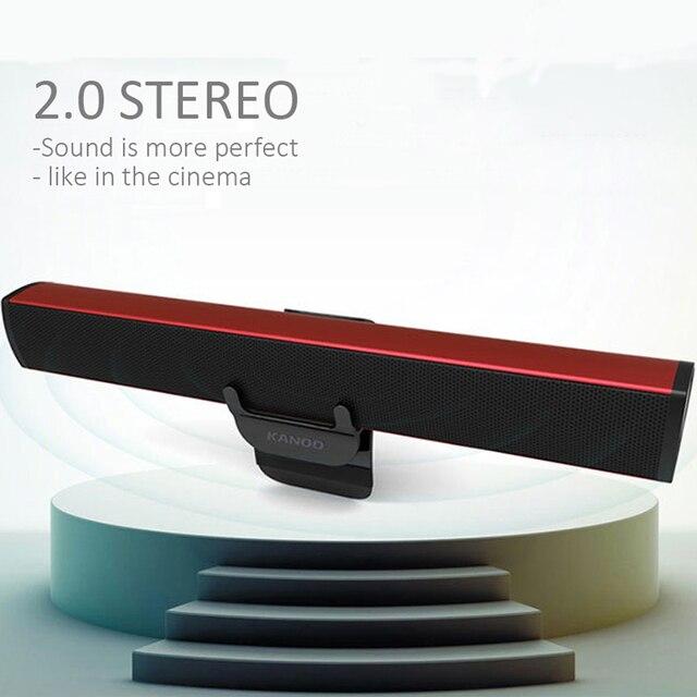 USB Laptop Speaker Portable/Computer Audio Mini Soundbar Subwoofer Bar Stick Music Player to PC Hot Sale Ikanoo Brand 5