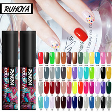 Ruhoya 5ML Nagellak Gel Lak Hybrid UV Voor Manicure Off Gellak Wit Prime Nail gel Extension Art nail polish(China)