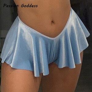 Sexy Women Pleated Shorts Skirts Dance High Waist Girls Mini Shorts Party Nightclub Cosplay Ruffles Mini Shorts Skirts Femininos