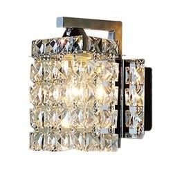 Promocja! Kryształowa naścienna Led lampy kinkiety oświetlenie domu salon nowoczesne ściany światła abażur do łazienki