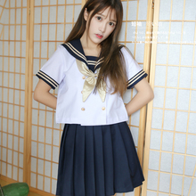 UPHYD JK School Uniforms Skirt Bow Set Women School Uniform Full Outfit S,M,L,XL,XXL LYZF101