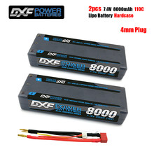 DXF-batería Lipo de 8000mAh, 4mm, 7,4 V, 110C/220C, 2S, Deans, XT60, EC5, para coche RC Evader, BX, vehículo, Buggy, Truggy, helicóptero