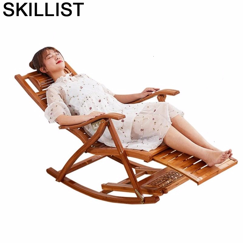 Divani Relax.Us 205 69 31 Off Dormir Balcony Furniture Divani Relax Rocking Sillon Reclinable Bamboo Cama Plegable Sillones Moderno Para Sala Recliner Chair On
