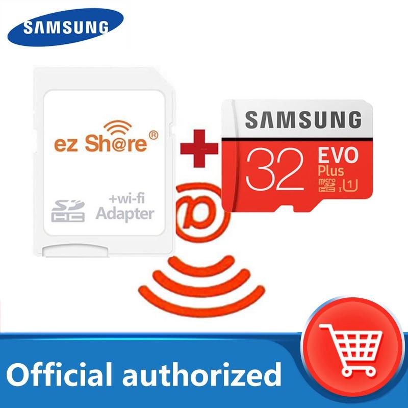 Inalámbrica ez compartir wifi Adaptador + Samsung EVO plus de tarjeta Micro SD class10 microsd wifi inalámbrico TF tarjeta 32gb 64gb 128GB tarjeta de memoria