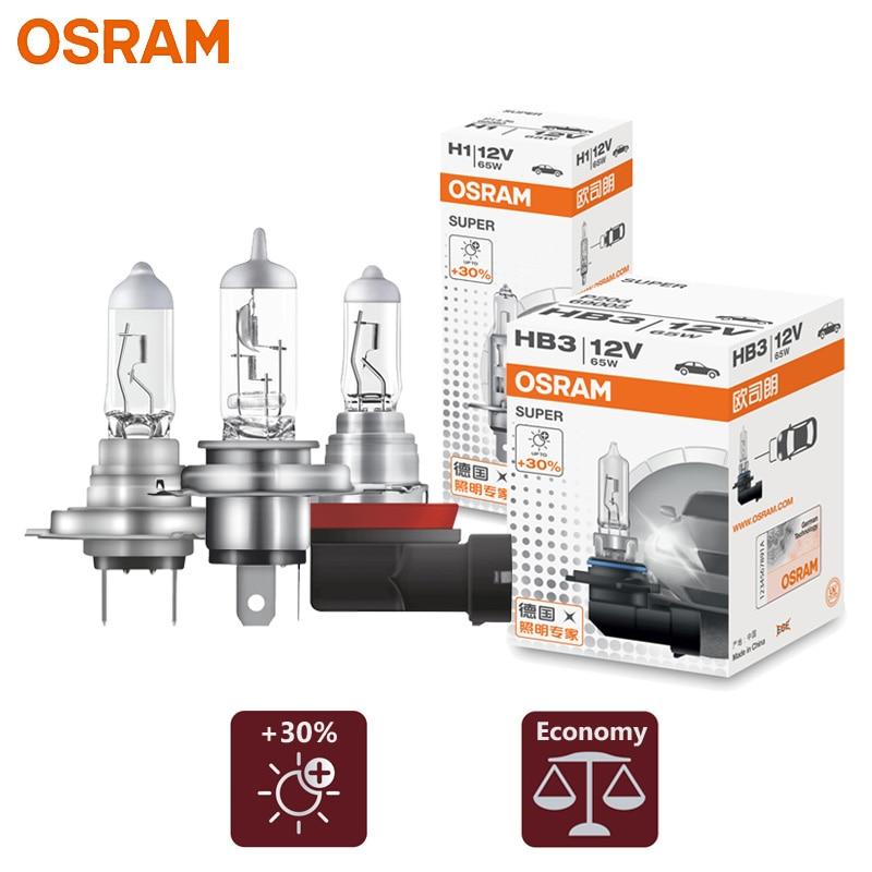 OSRAM H1 H4 H7 H11 9003 9005 9006 65W Halogen Light HB2 HB3 HB4 12V 3200K Head Lamp +30% Bright Car Bulb OEM Quality SUP 1pc