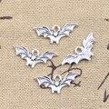 50 шт. Подвески Хэллоуин Fly Bat 9x21 мм антикварные подвески из серебра поделки своими руками, украшения своими руками, ручной работы, тибетские у...