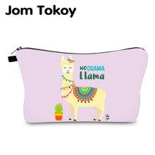 Jom Tokoy Waterproof Cosmetic Organizer Bag Makeup bag Printing Alpaca Fashion Women Multifunction Beauty 979
