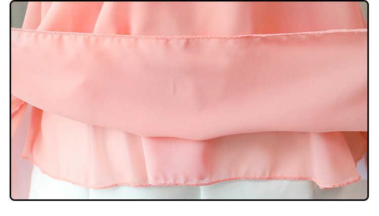 زائد حجم 3XL 4XL 5XL الشيفون المرأة بلوزة قميص أزياء المرأة البلوزات 2019 فستان من الدانتيل قميص المرأة blusa الأنثوية