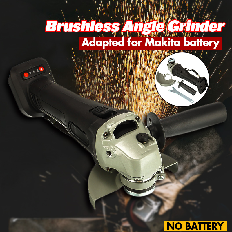 125mm Brushless Cordless Impact Angle Grinder Head Tools Kit Polishing Machine Angular Finishing Grinder For Makita Battery