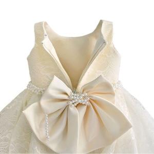 Image 4 - Baby Meisje Kleding 1st Verjaardag Meisjes Tutu Jurk Parel Riem Doop Avond Party Gown Prinses Kinderen Jurken Voor Meisje 6 12 18 36M